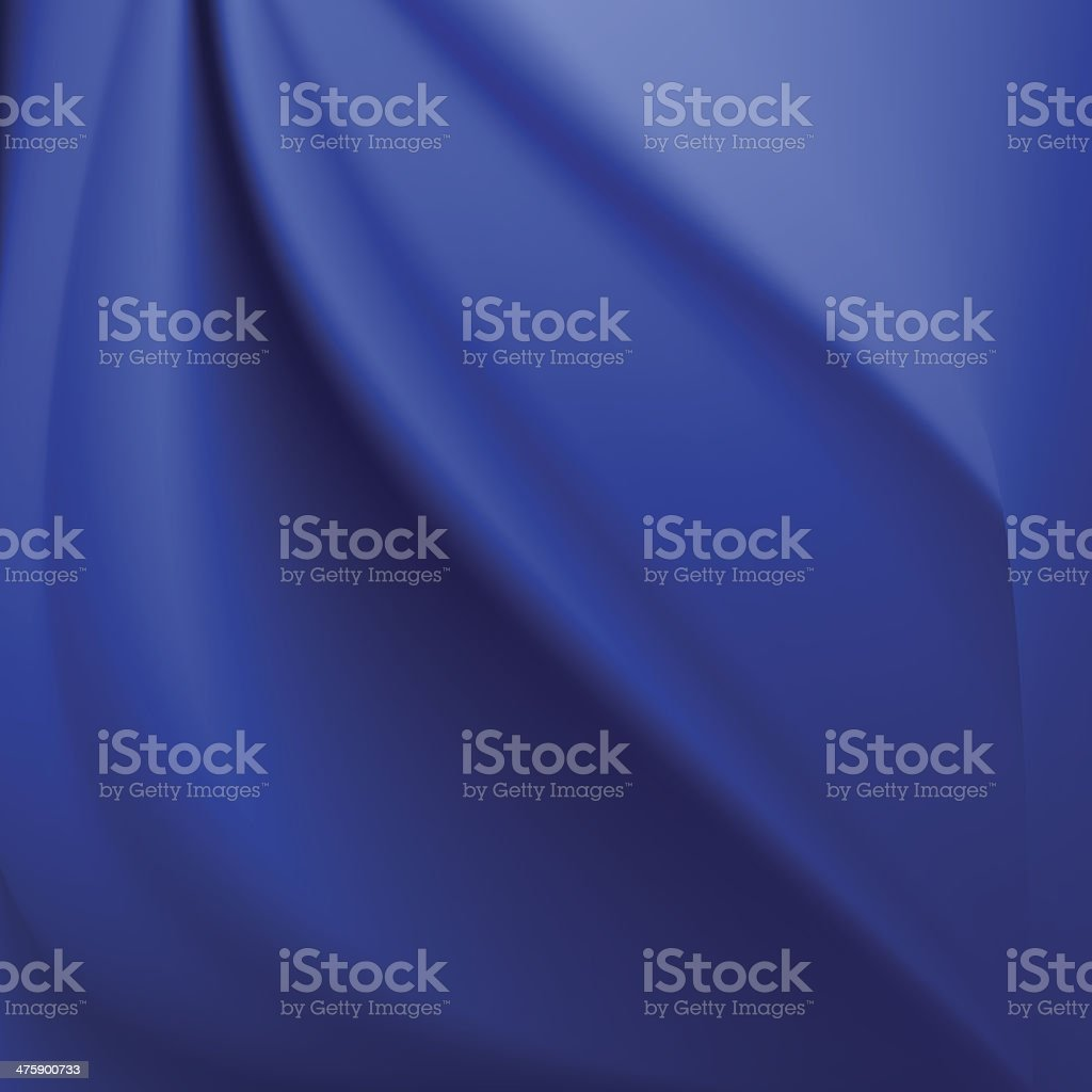 Blue silk background with some soft folds royalty-free stock vector art