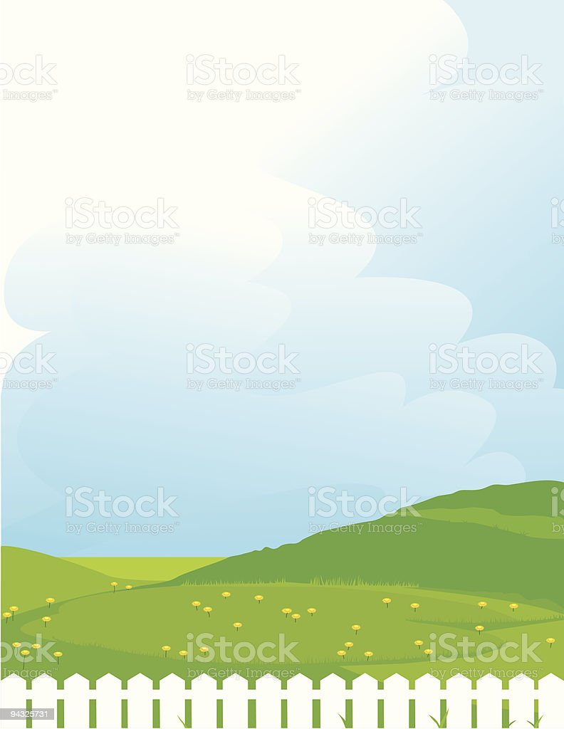 Blue Sky background royalty-free stock vector art