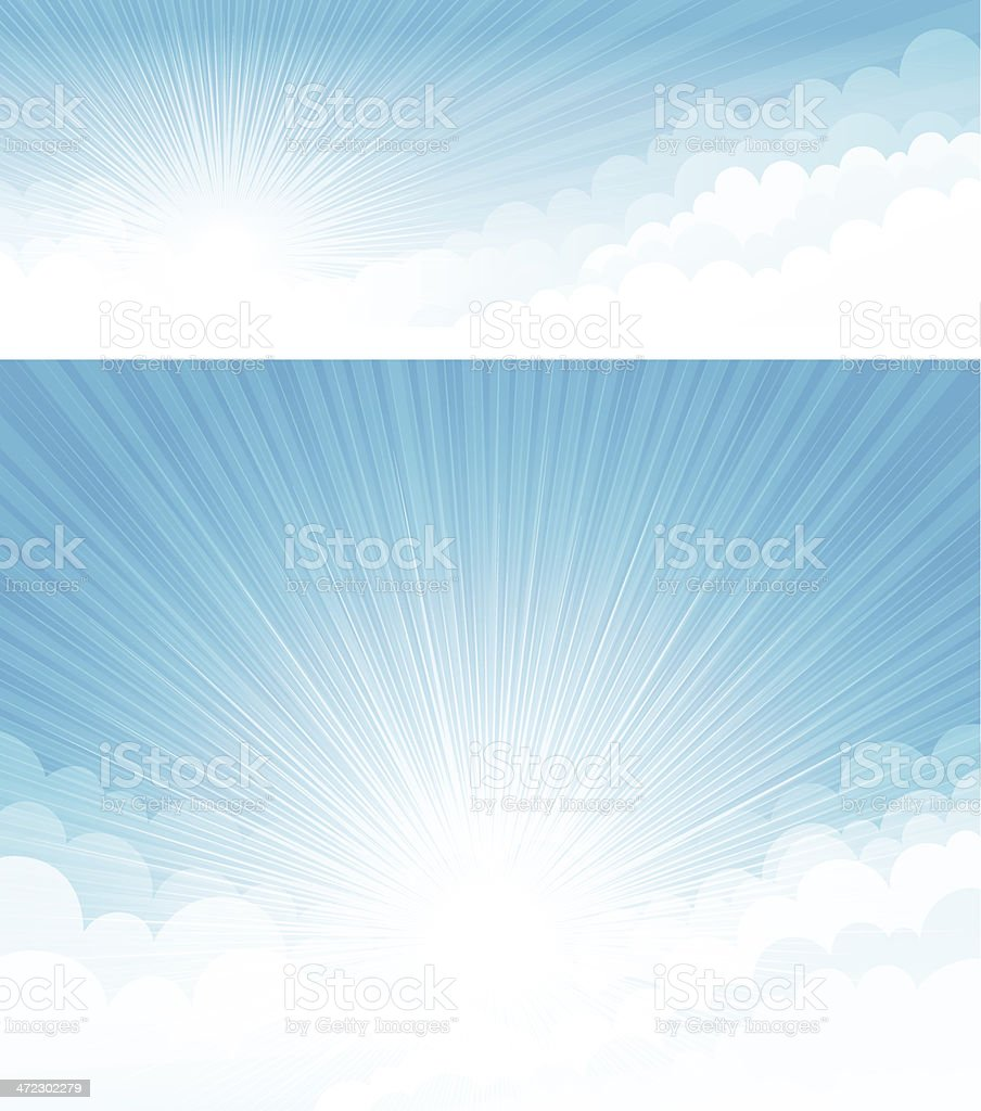 Blue sky backgrounds royalty-free stock vector art