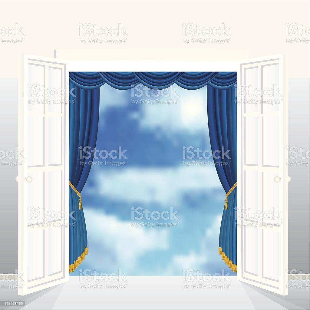 blue sky entrance royalty-free stock vector art