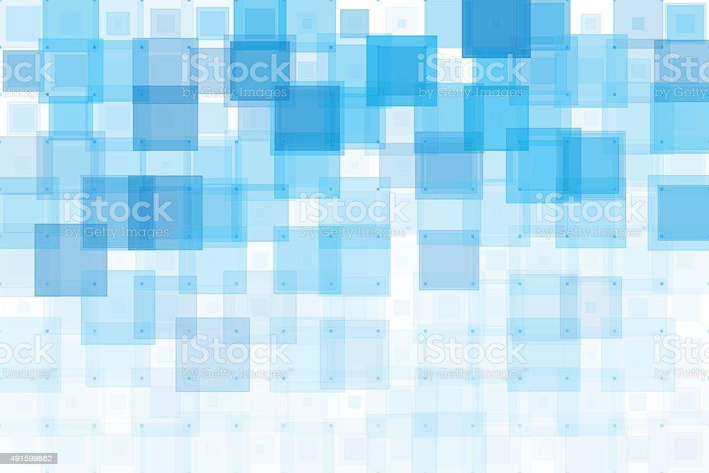 Blue Sky Geometric Squares Pattern vector art illustration