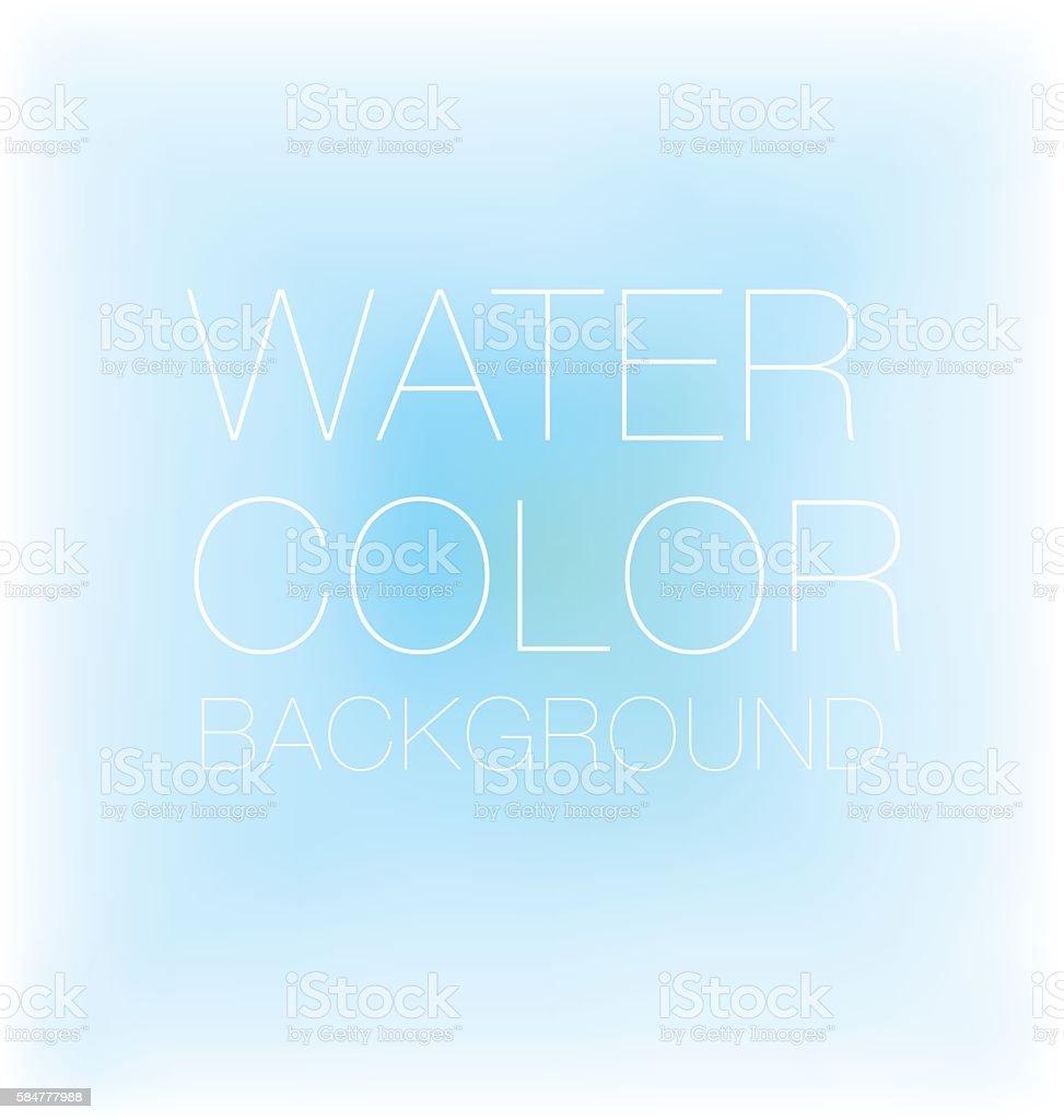 blue sky spot. watercolour background, vector backdrop, vector art illustration