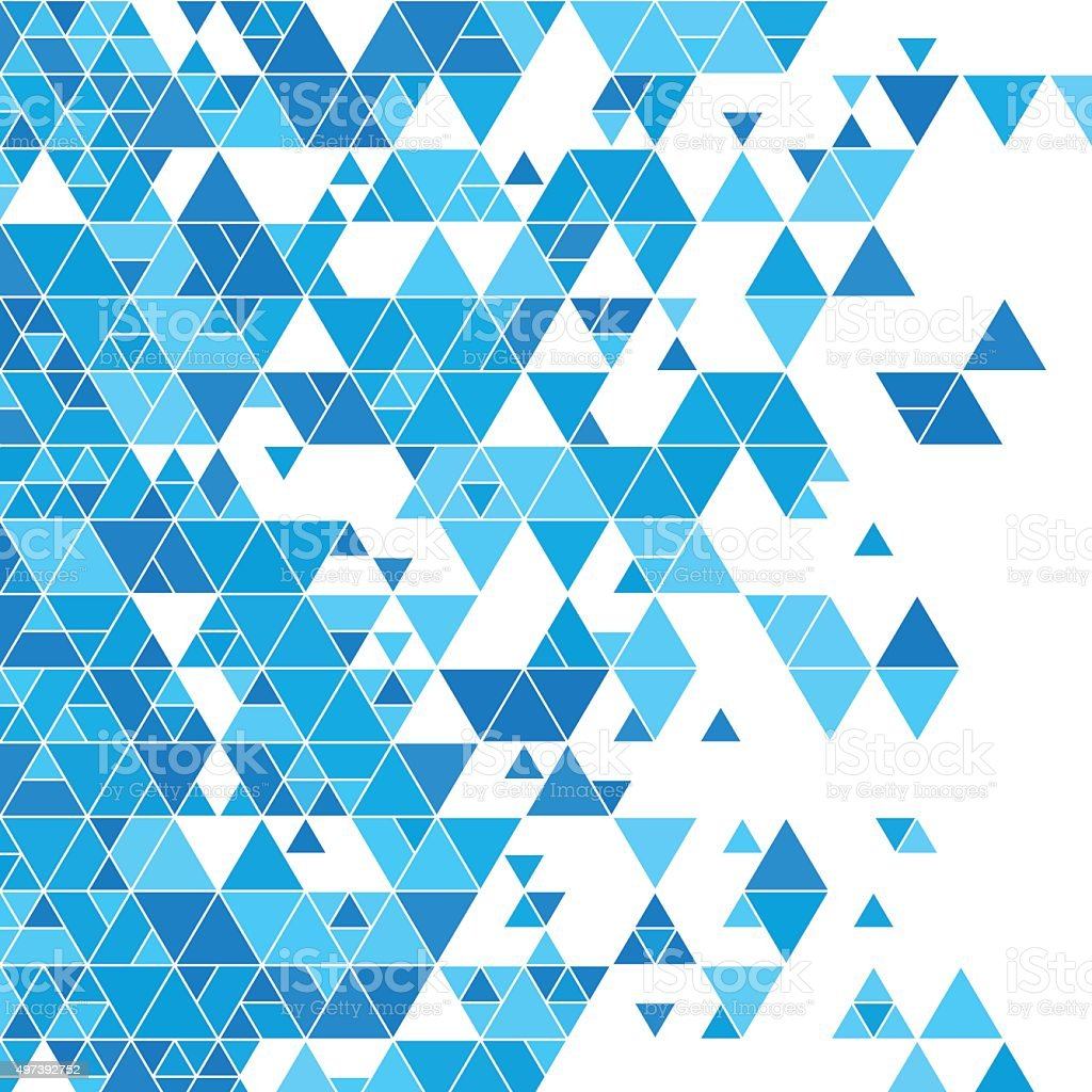Blue Sky Triangle Design Background Square vector art illustration