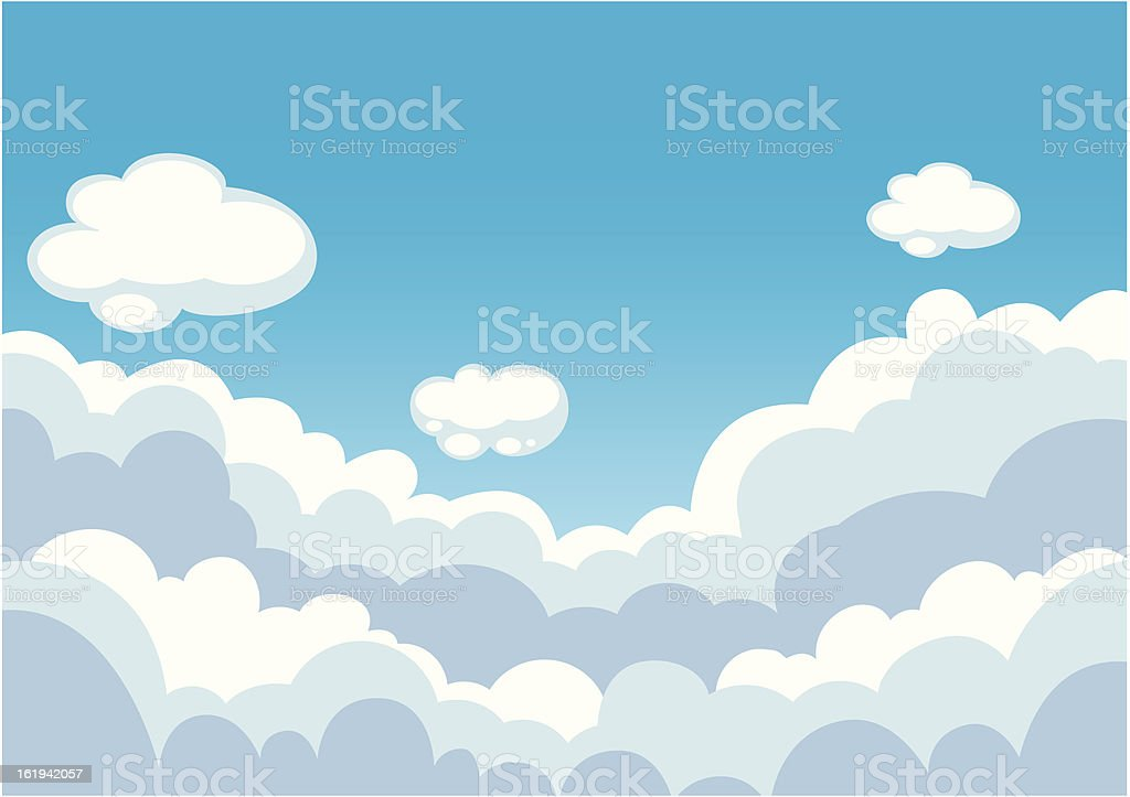Blue sky with clouds background royalty-free stock vector art