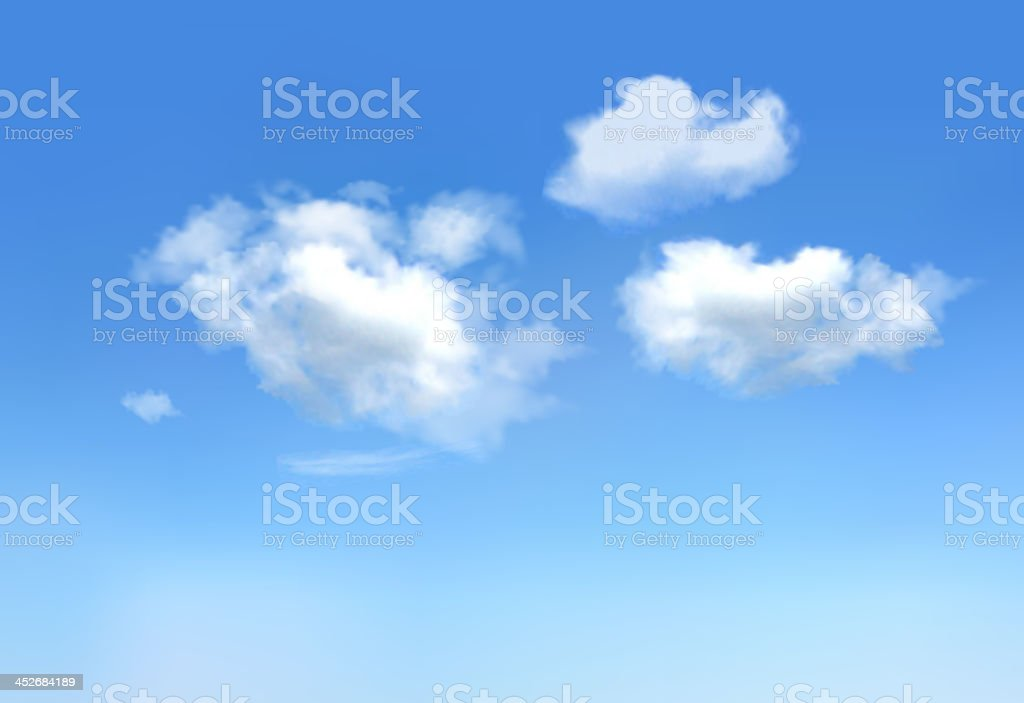 Blue sky with clouds.Vector vector art illustration