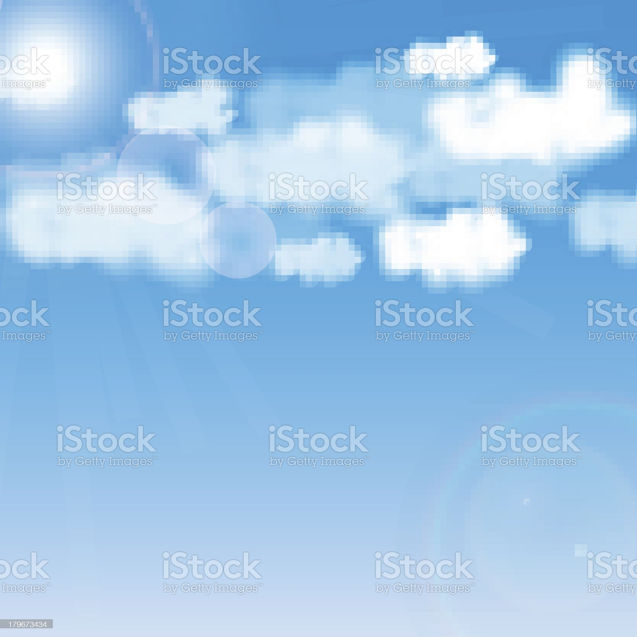 Blue sky with white cloud royalty-free stock vector art