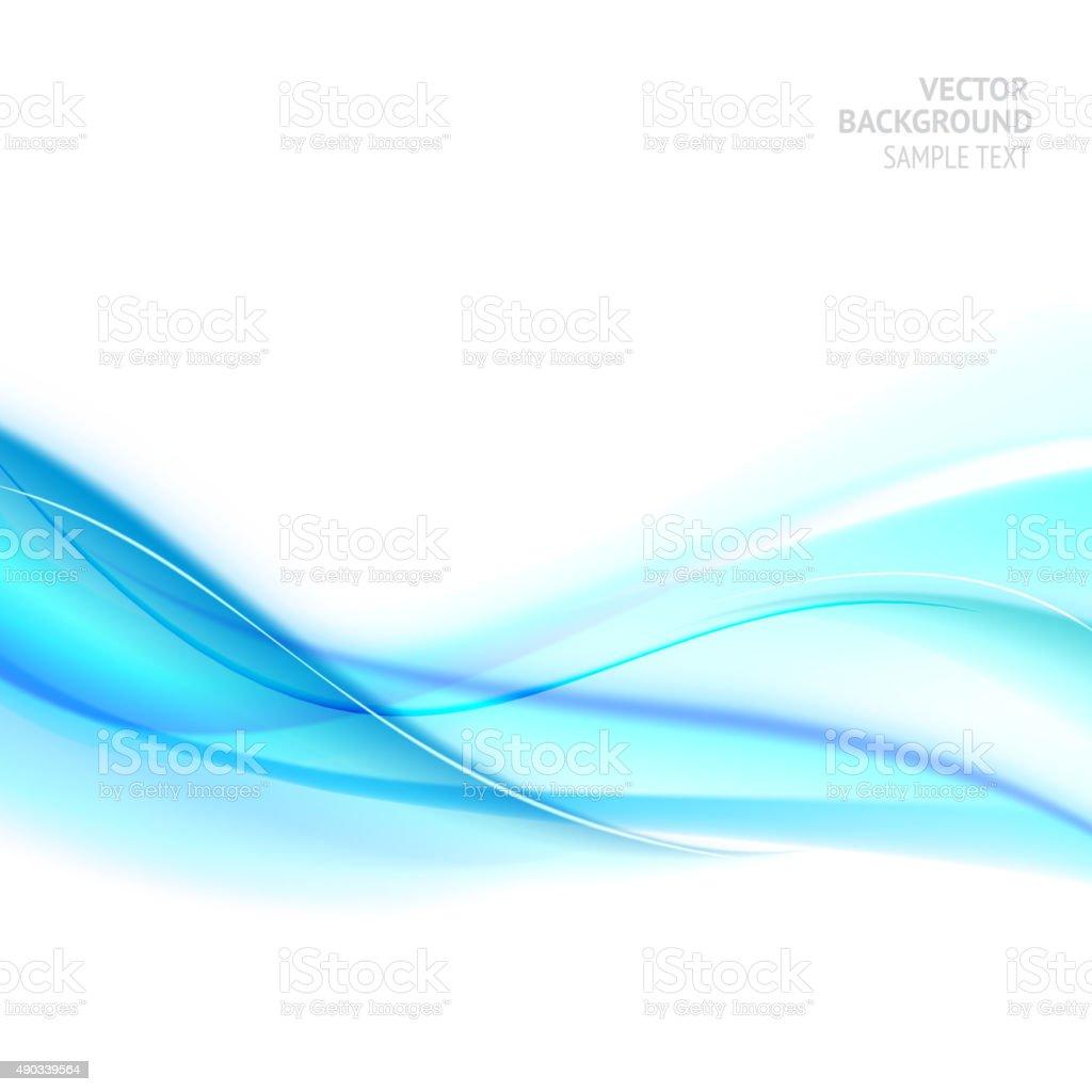 Blue smooth light lines vector art illustration
