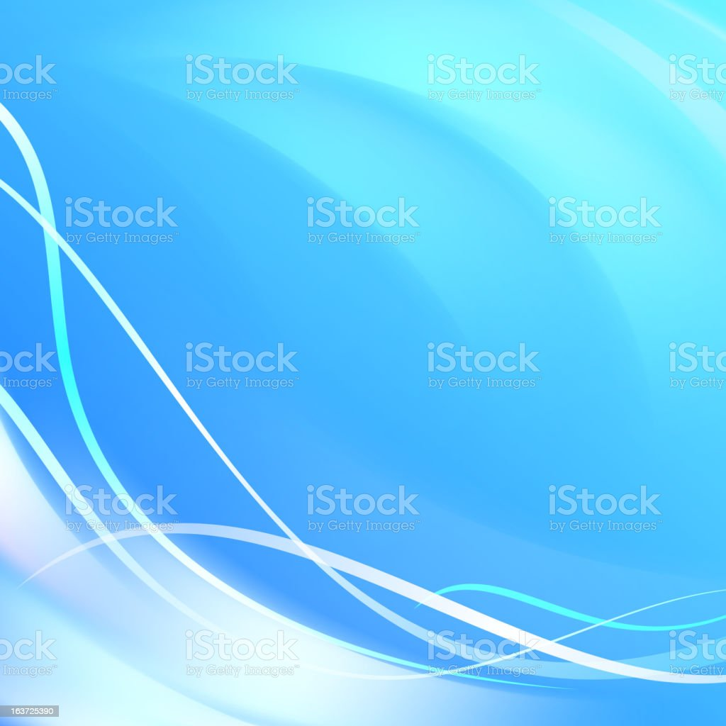 Blue smooth twist light lines background royalty-free stock vector art