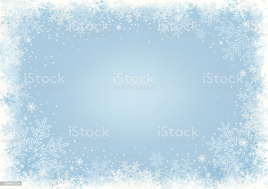 Blue Snowflake Background. vector art illustration