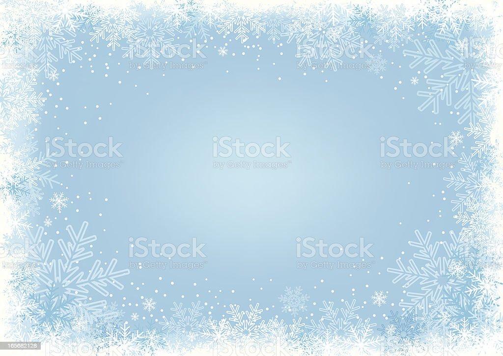Blue Snowflake Background. vector art illustration