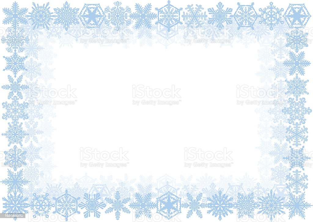 Blue Snowflake Frame royalty-free stock vector art