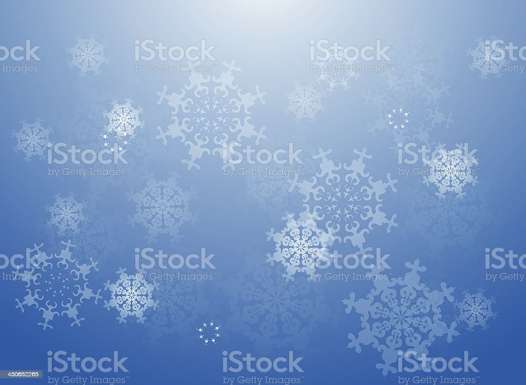 Blue snowflakes background royalty-free stock vector art