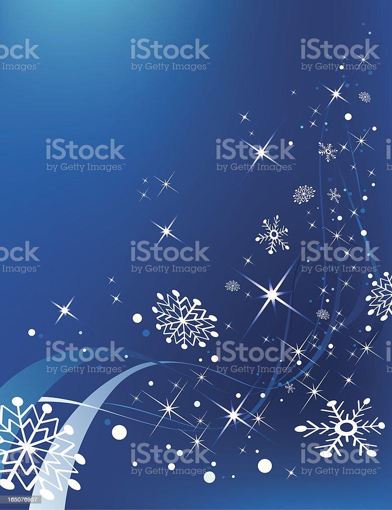Blue snowy flow royalty-free stock vector art