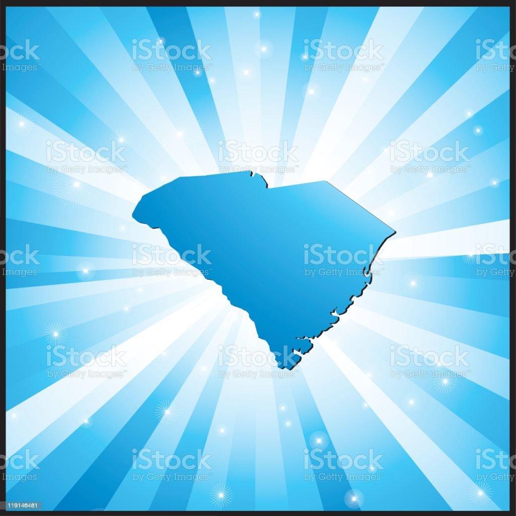Blue South Carolina royalty-free stock vector art