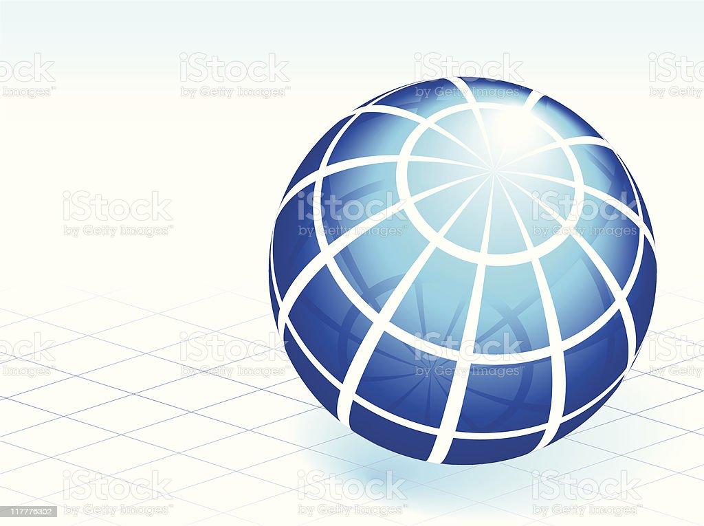 blue sphere royalty-free stock vector art