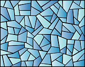 Blue Stained Glass Background