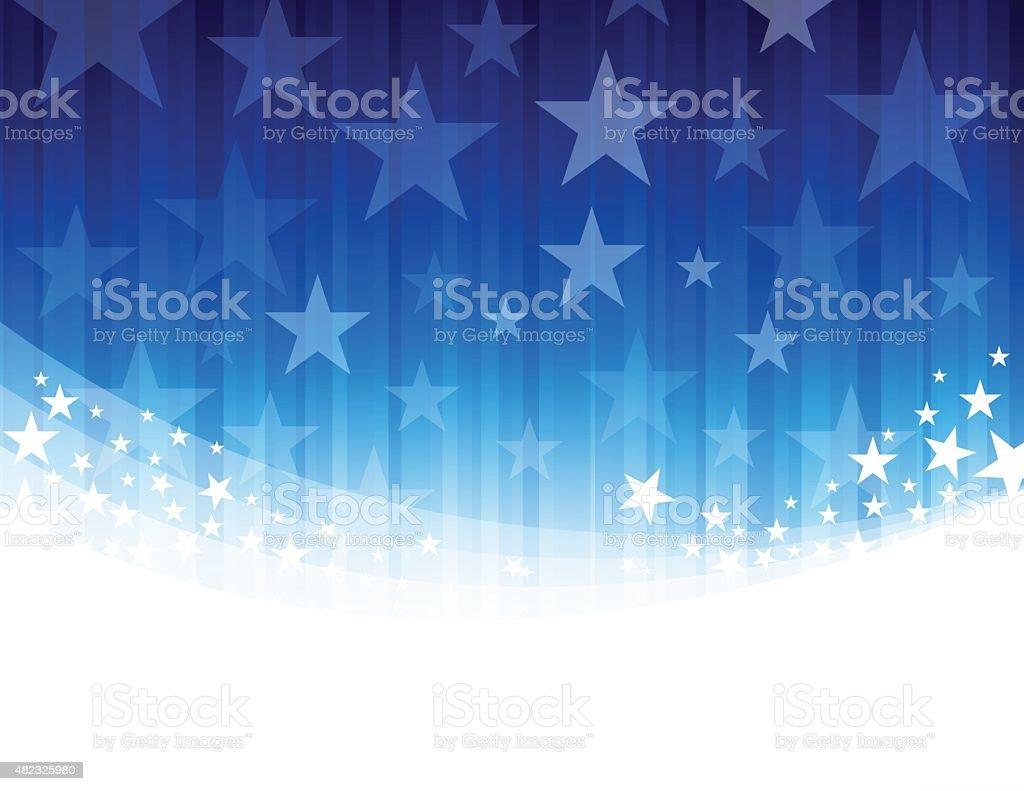 Blue Star abstract background vector art illustration