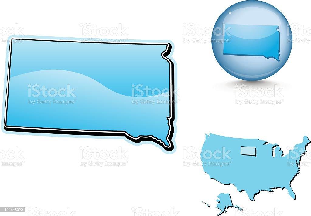 Blue state series -  South Dakota royalty-free stock vector art