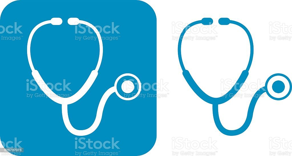 Blue Stethoscope Icons vector art illustration