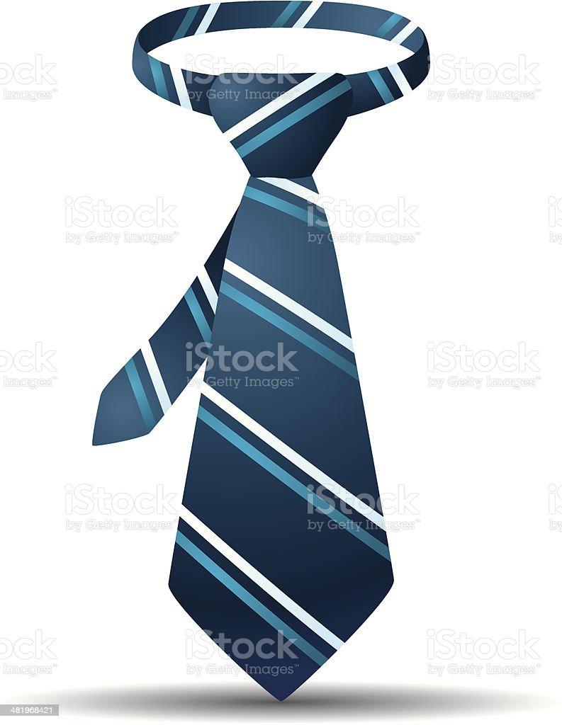 Blue Stripe Tie royalty-free stock vector art