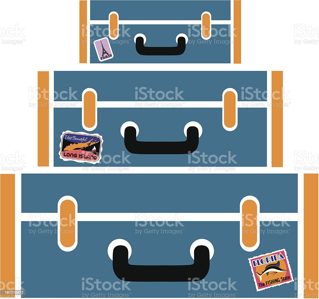 blue suitcases royalty-free stock vector art