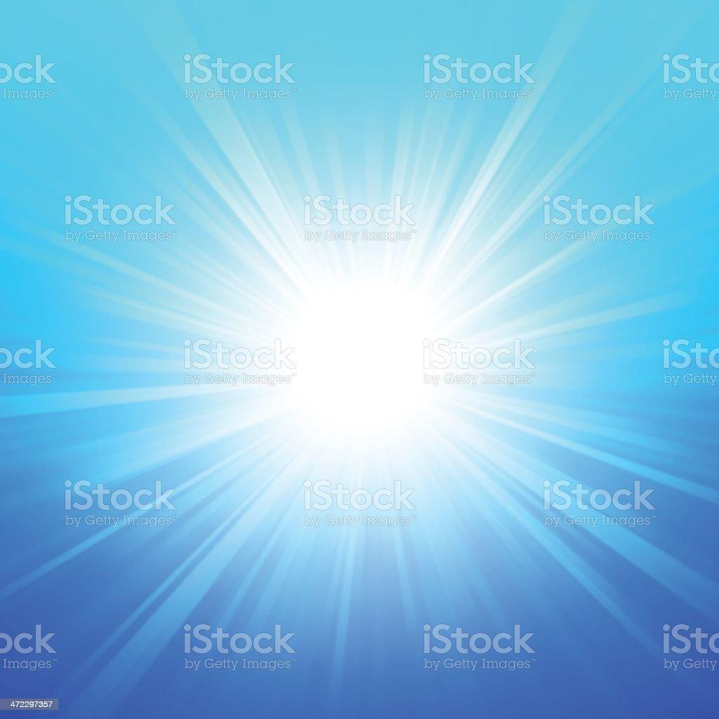 Blue Summer Glow royalty-free stock vector art