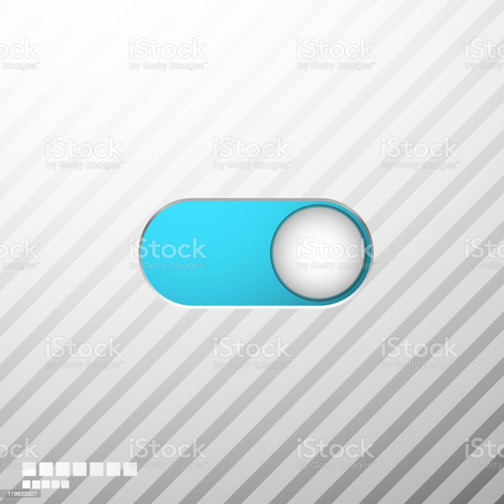 Blue switcher royalty-free stock vector art