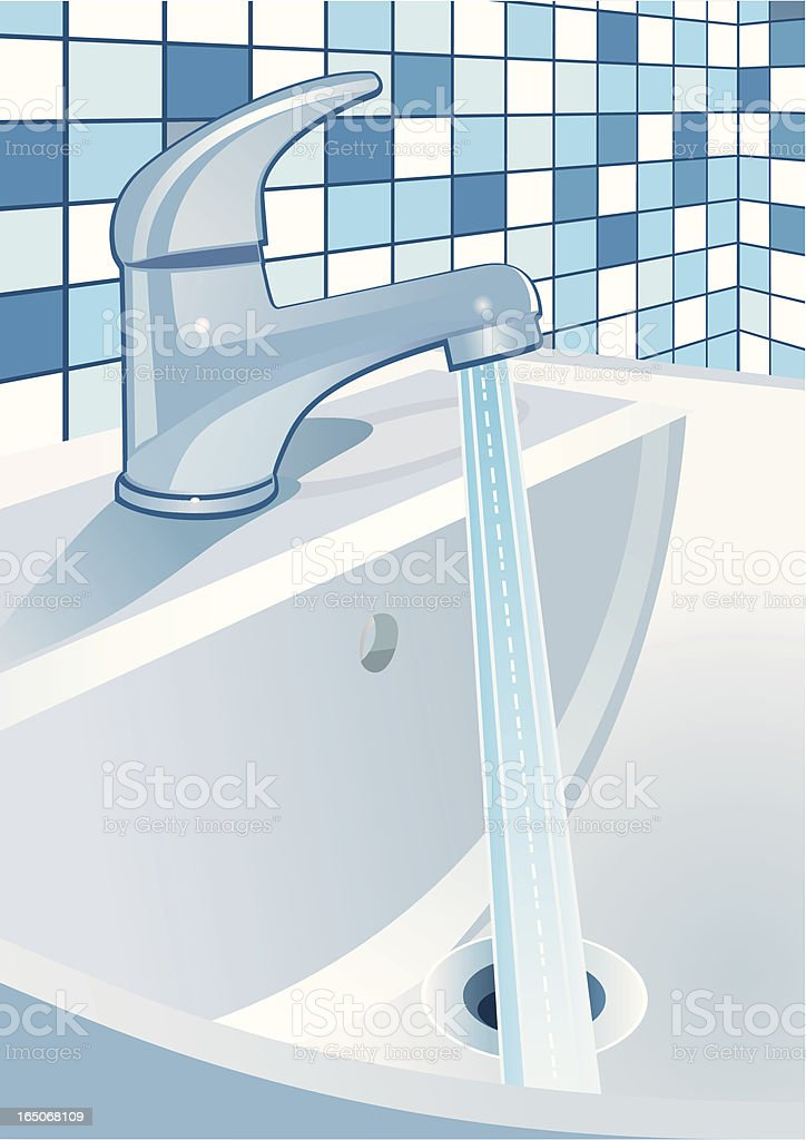 Blue Tap royalty-free stock vector art