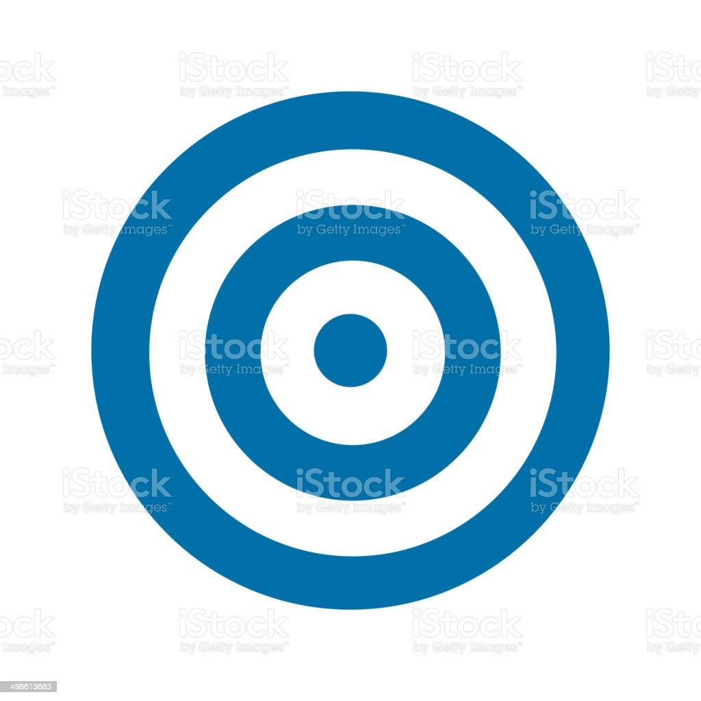 Blue target icon vector art illustration
