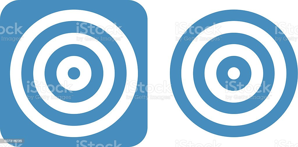 Blue Target Icons vector art illustration