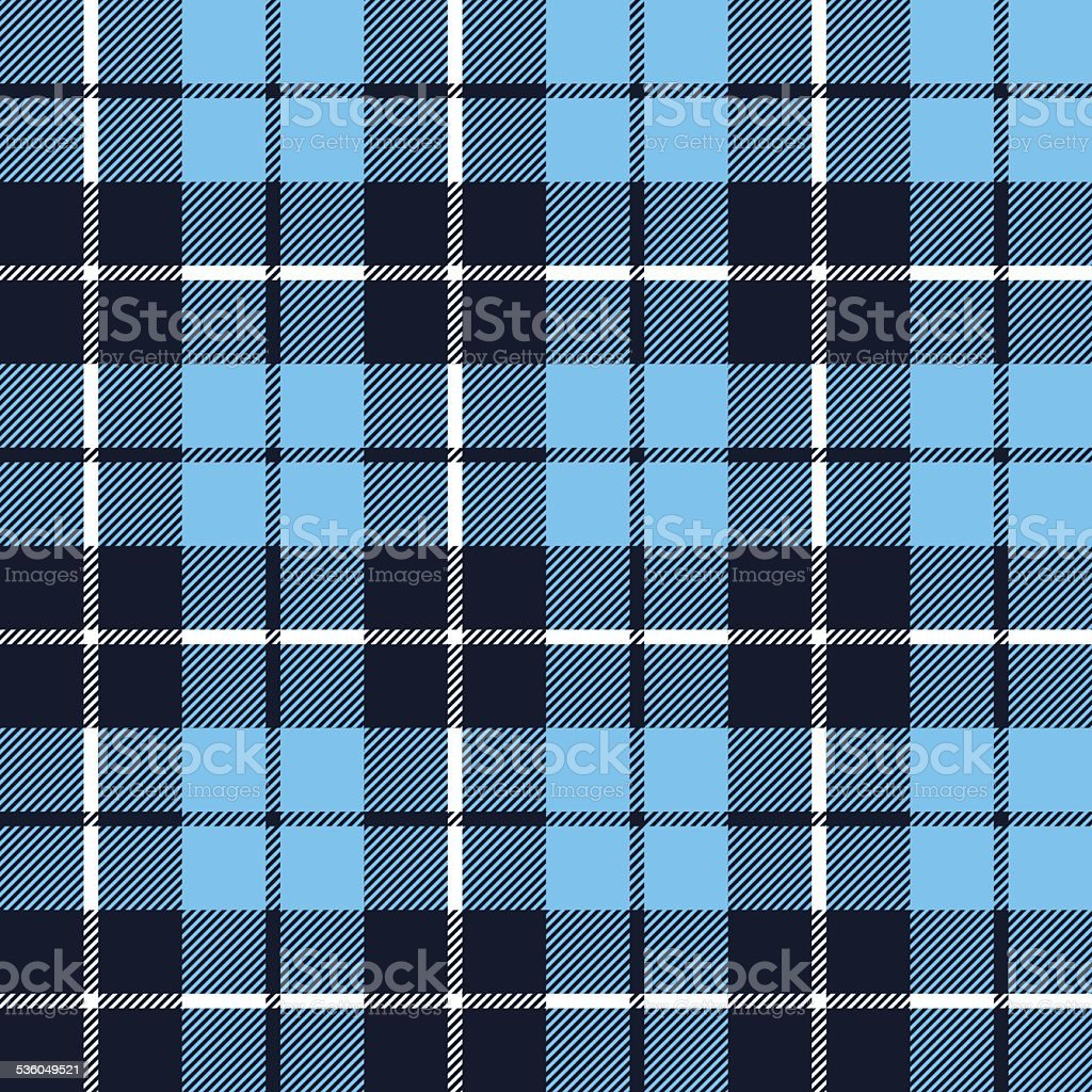 blue  tartan fabric texture in a square pattern seamless vector art illustration