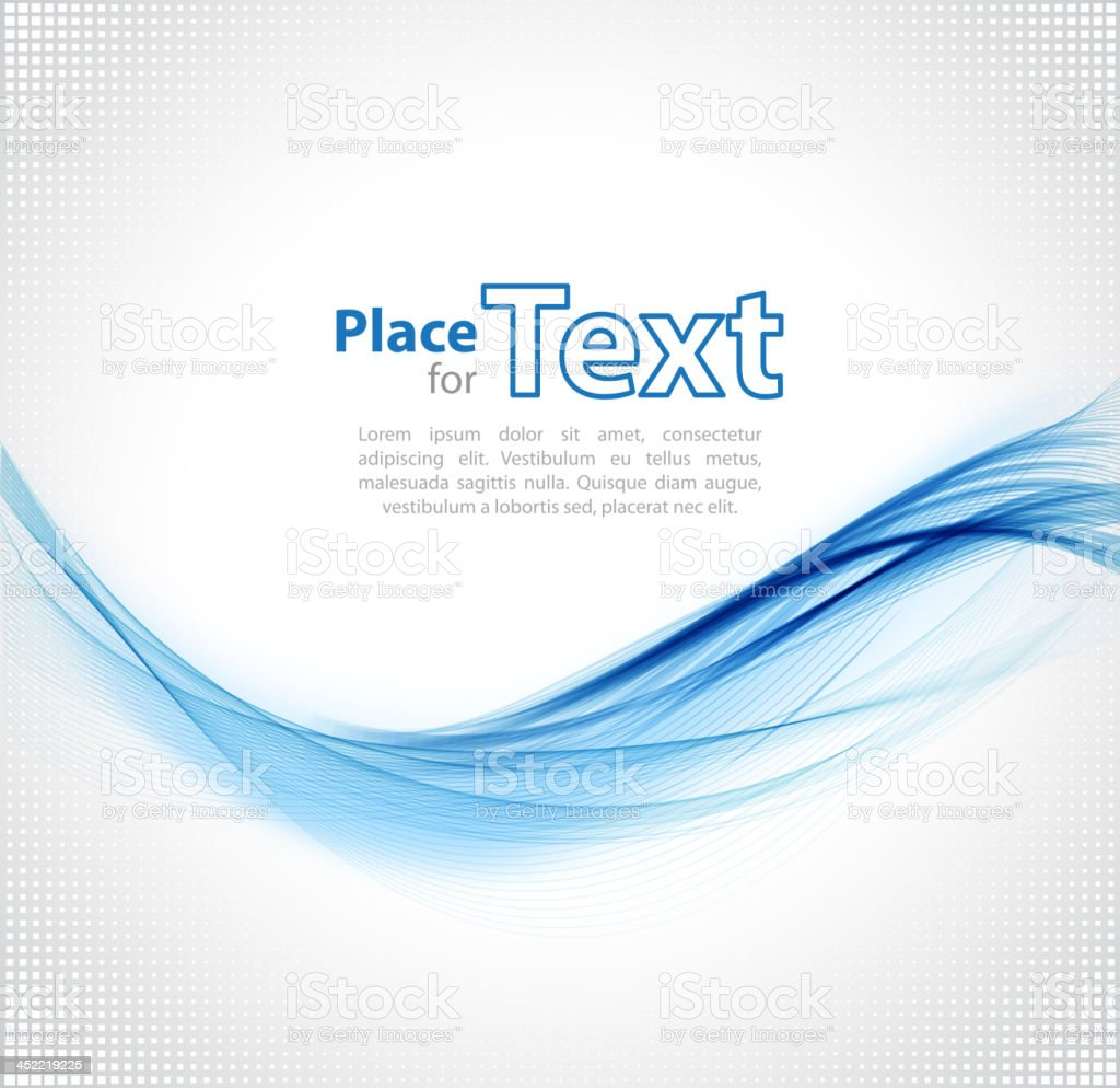 Blue text on wave design element royalty-free stock vector art