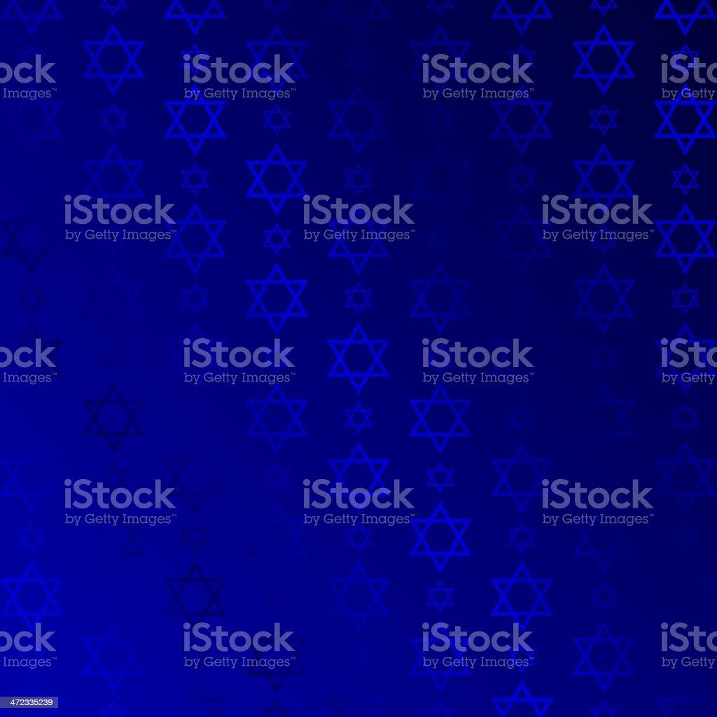 blue texture with stars of david vector art illustration