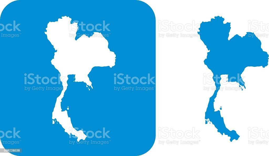 Blue Thailand Icons vector art illustration