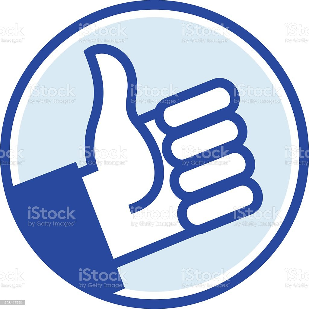 blue thumb vector art illustration