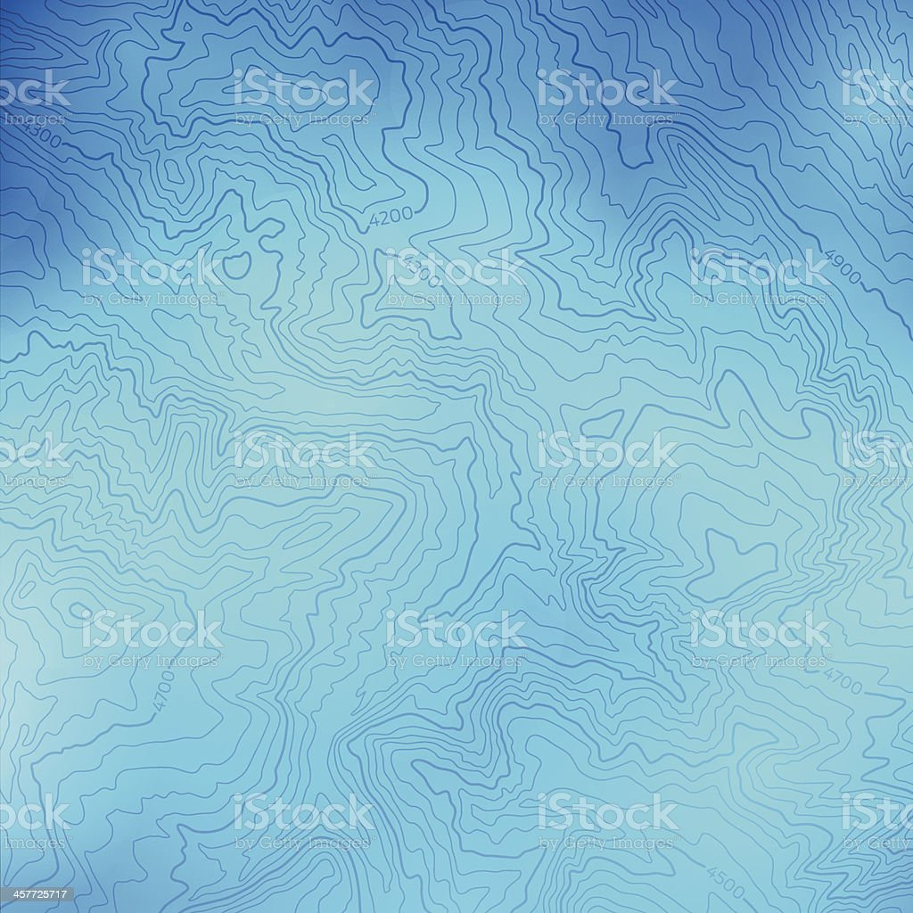 Blue Topographic Background vector art illustration