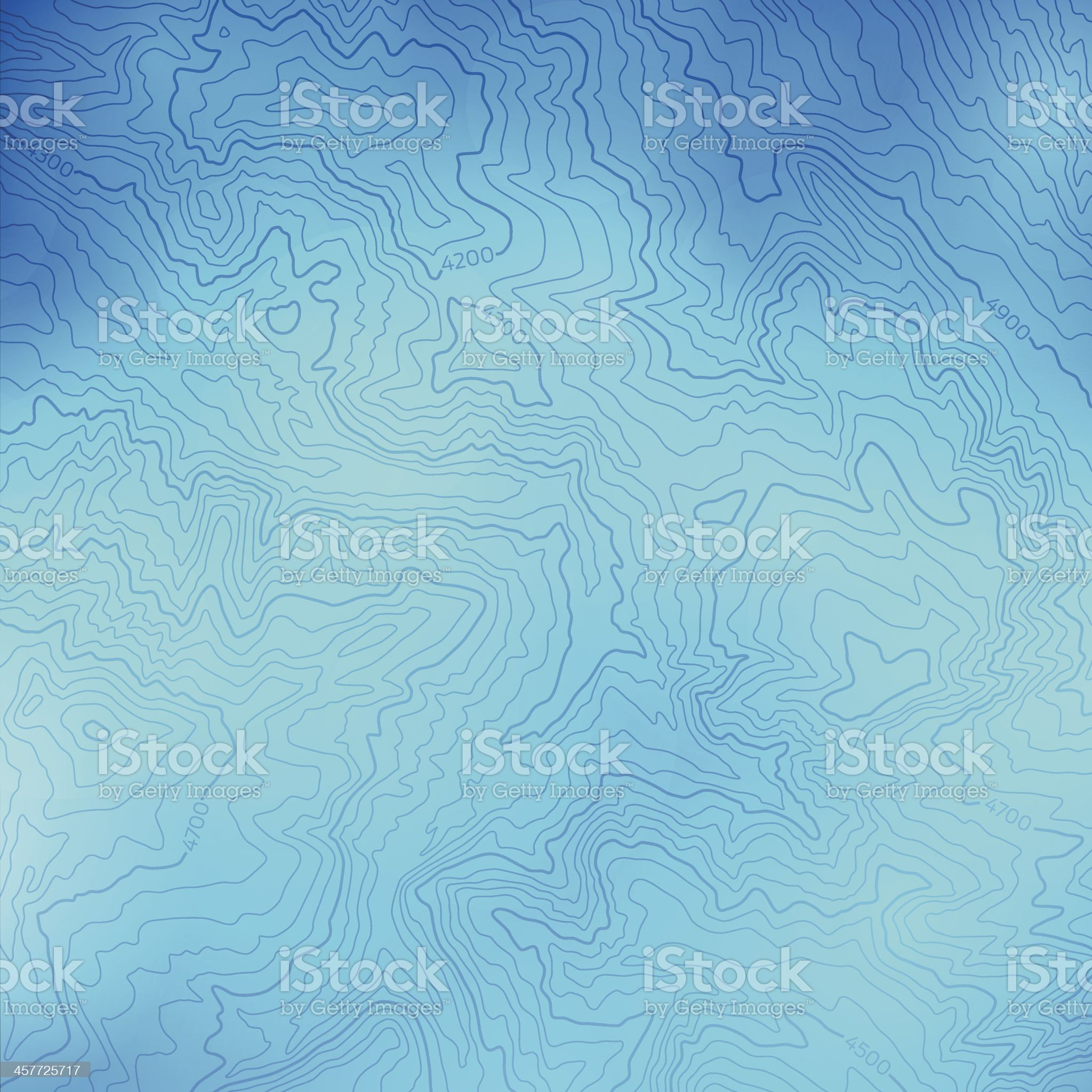 Blue Topographic Background royalty-free stock vector art