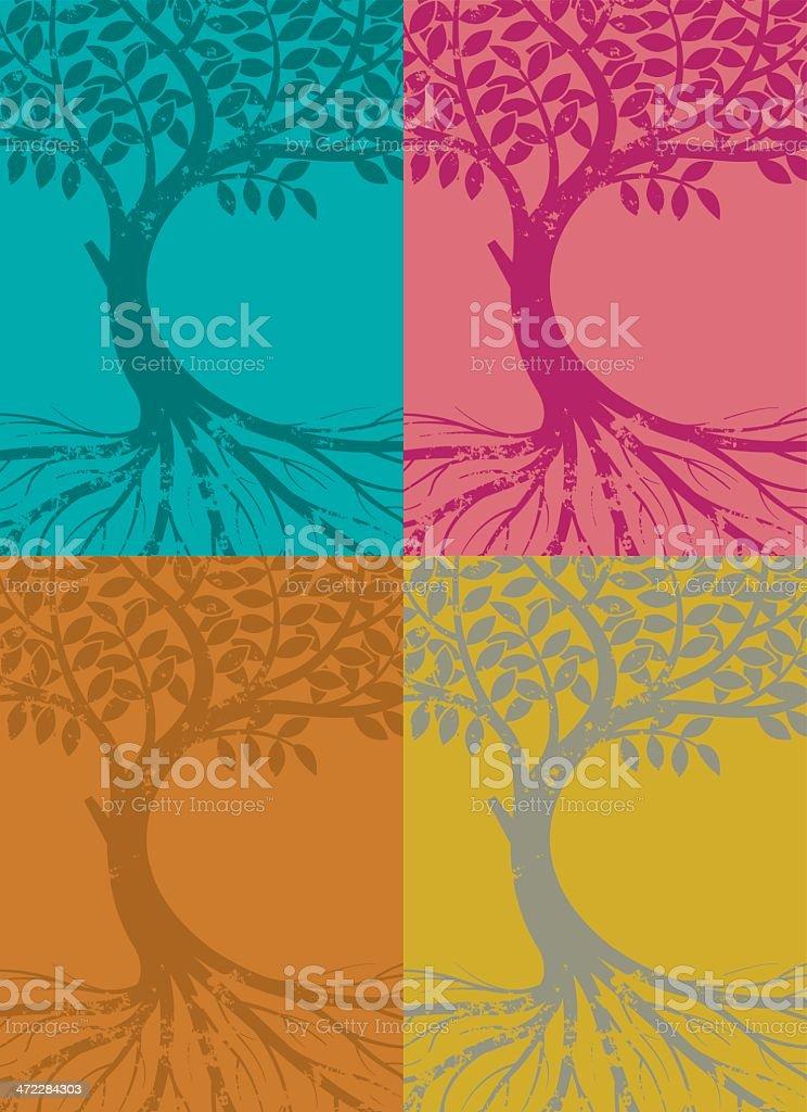 Blue tree royalty-free stock vector art