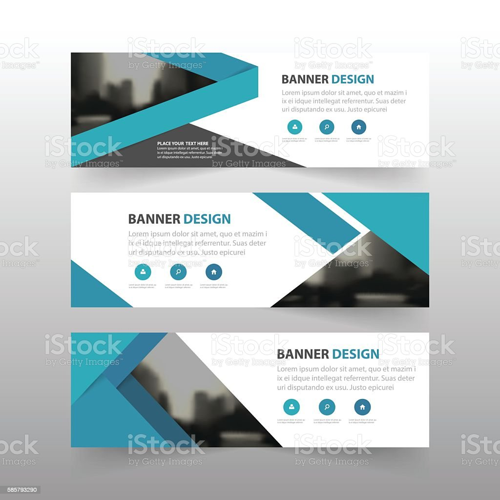 blue triangle abstract corporate business banner template blue triangle abstract corporate business banner template horizontal advertising business royalty stock vector