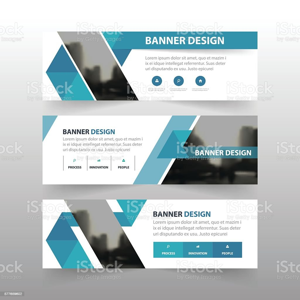 blue triangle abstract polygon corporate business banner template 1 credit