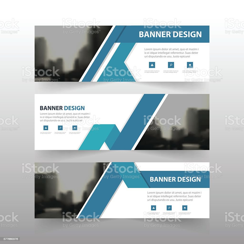 blue triangle abstract polygon corporate business banner template