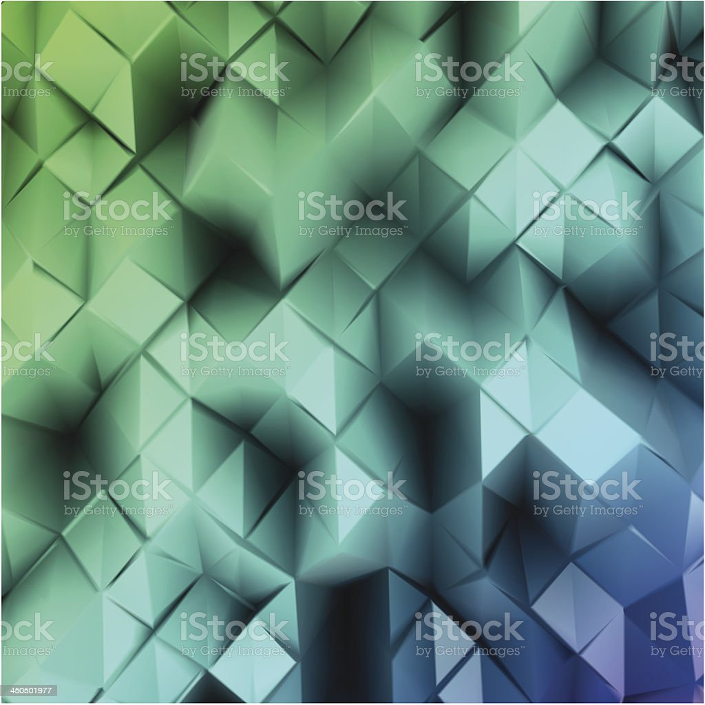 Blue triangle abstract. Vector royalty-free stock vector art