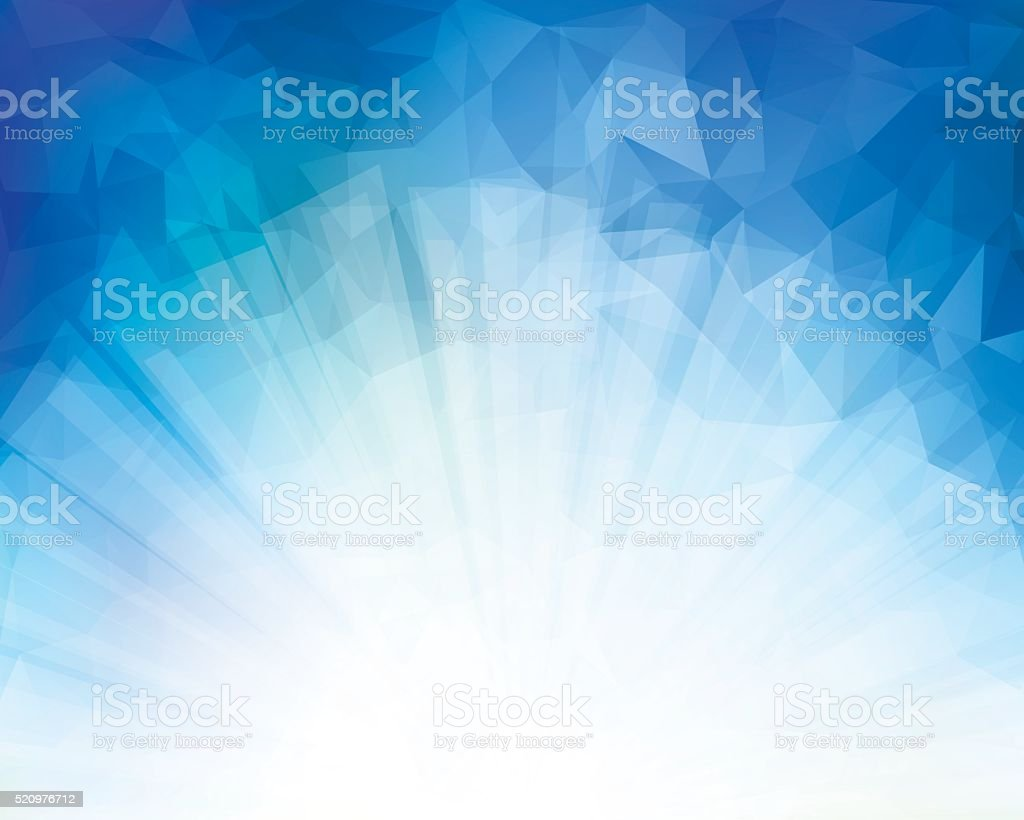 Blue Triangle Background vector art illustration
