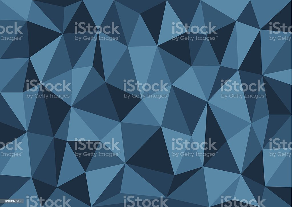 Blue Triangles Abstract Vector Background royalty-free stock vector art