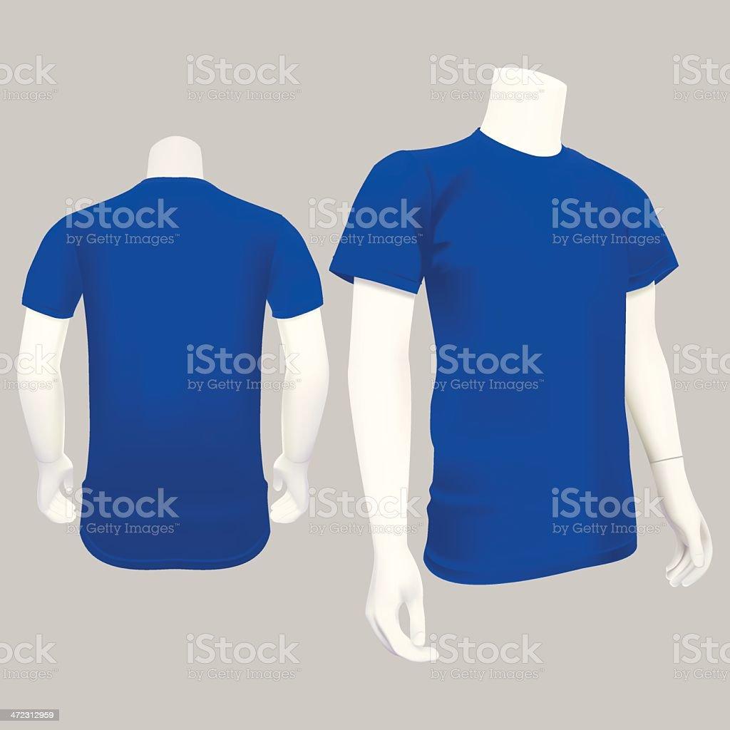Blue T-Shirt Template - Vector Illustration vector art illustration