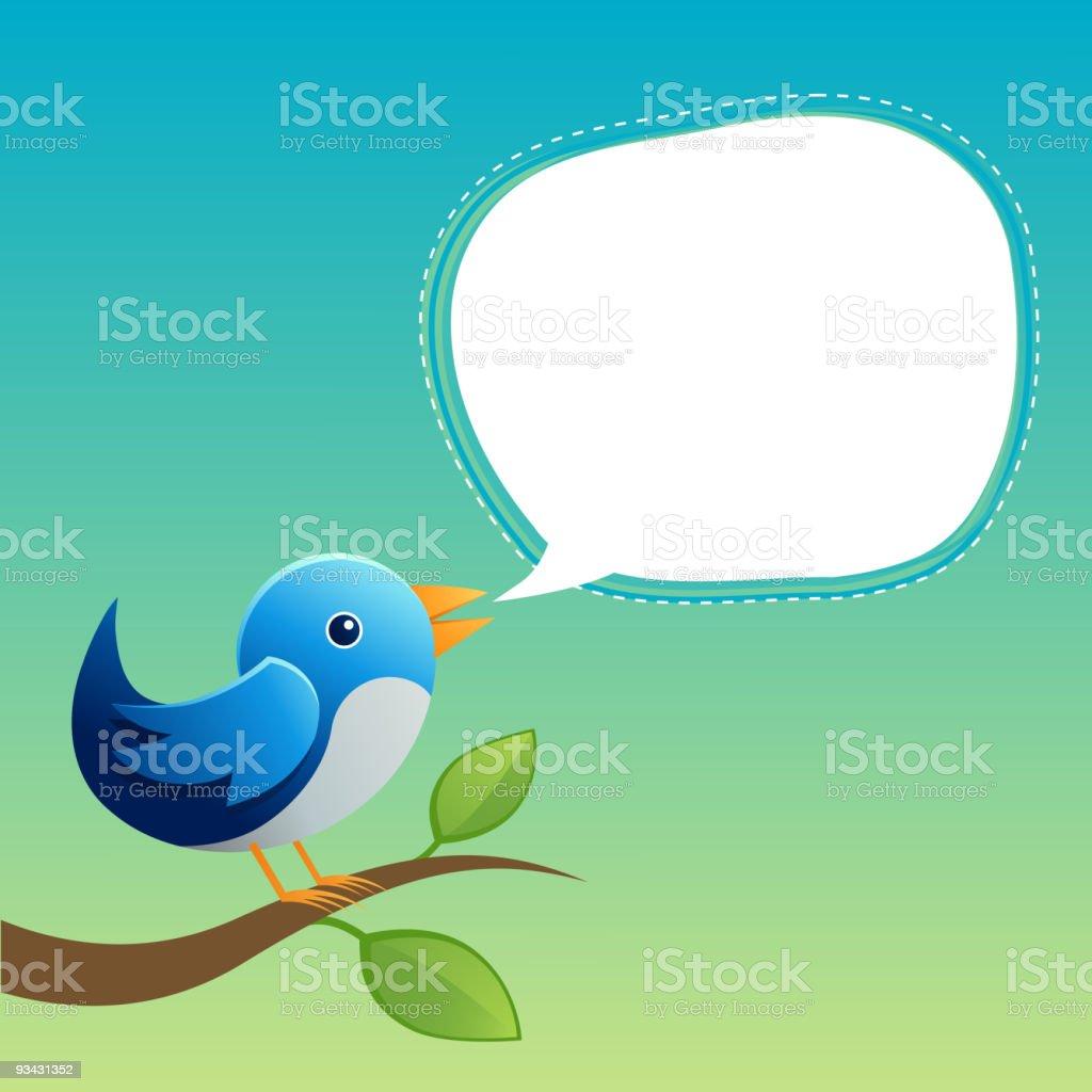 Blue Twitter Bird royalty-free stock vector art