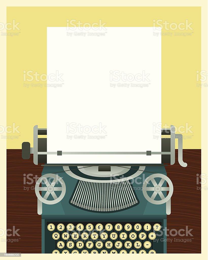 Blue Typewriter royalty-free stock vector art
