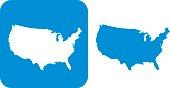 Blue United States Icons