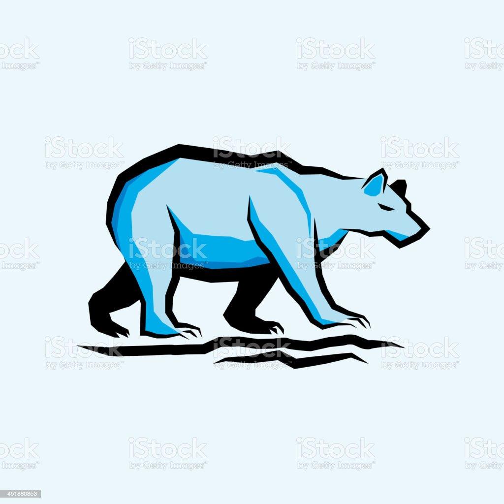 Blue Vector Bear royalty-free stock vector art