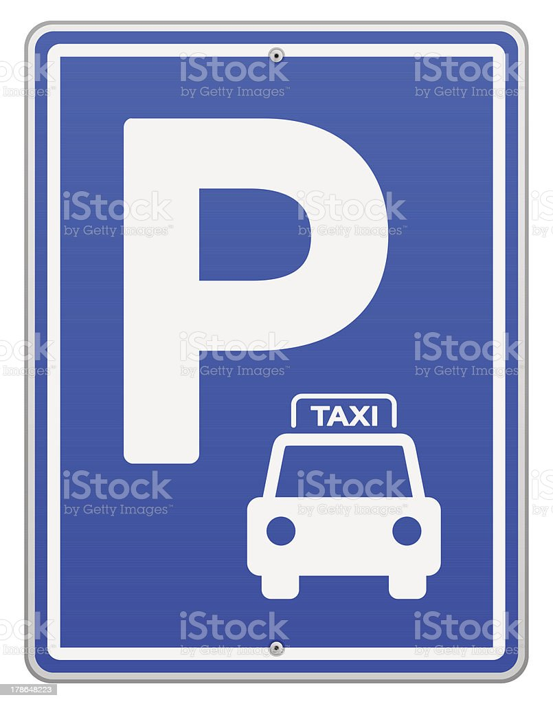 Blue Vector Parking Sign vector art illustration